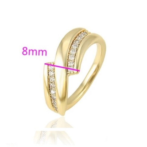 Set inel si cercei din aliaj de zinc, placat cu aur galben 14k