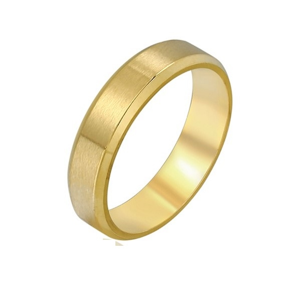 Inel din INOX, placat cu aur galben 14K