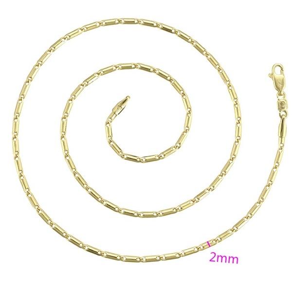 Lantisor de DAMA din aliaj de zinc, placat cu aur de 14k