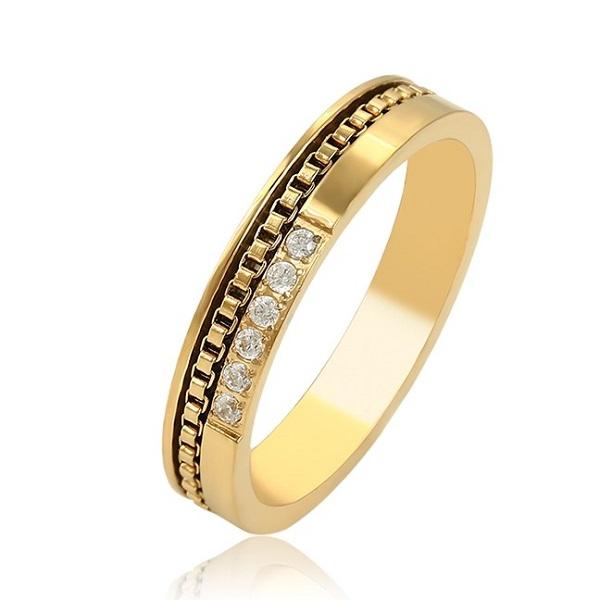 Inel INOX , placat cu aur galben