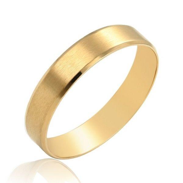 Verigheta din INOX, placat cu aur galben 14k