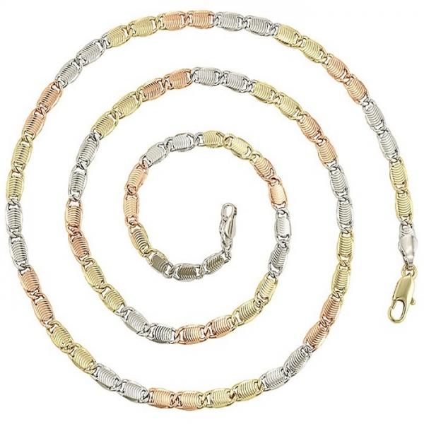 Lantisor DAMA sau BARBATESC, din aliaj de zinc, placat cu aur de 14k