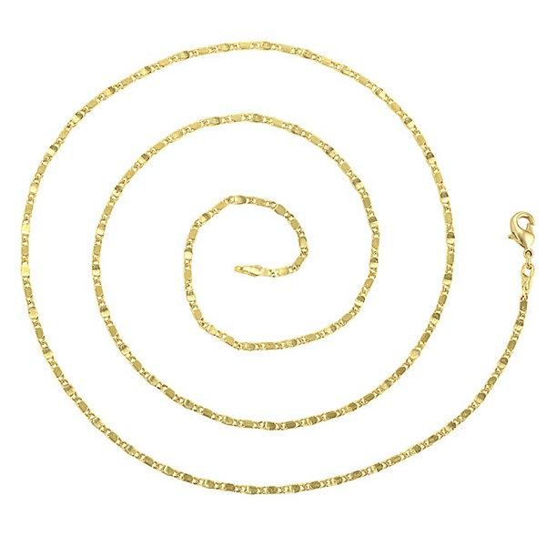 Pandantiv din aliaj de zinc, placat cu aur galben 14k lantisor CADOU